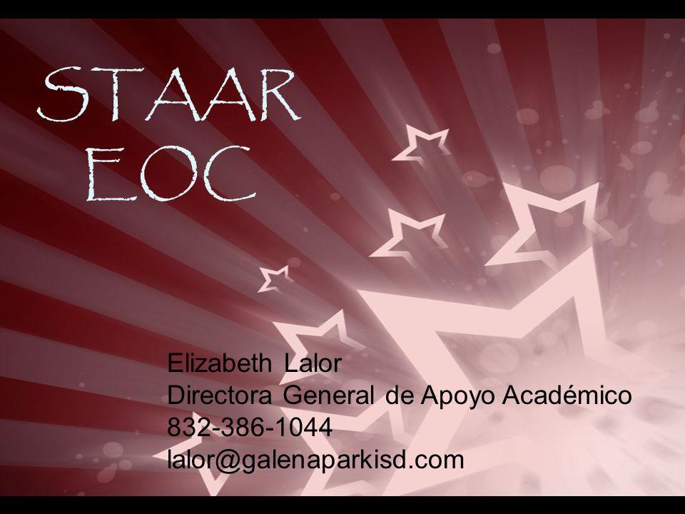 STAAR EOC Elizabeth Lalor