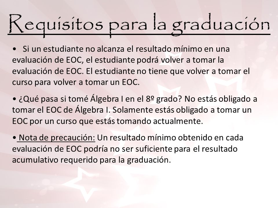 Requisitos para la graduación