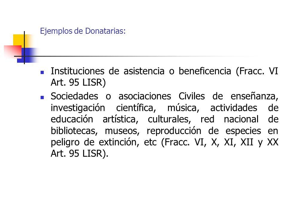 Ejemplos de Donatarias: