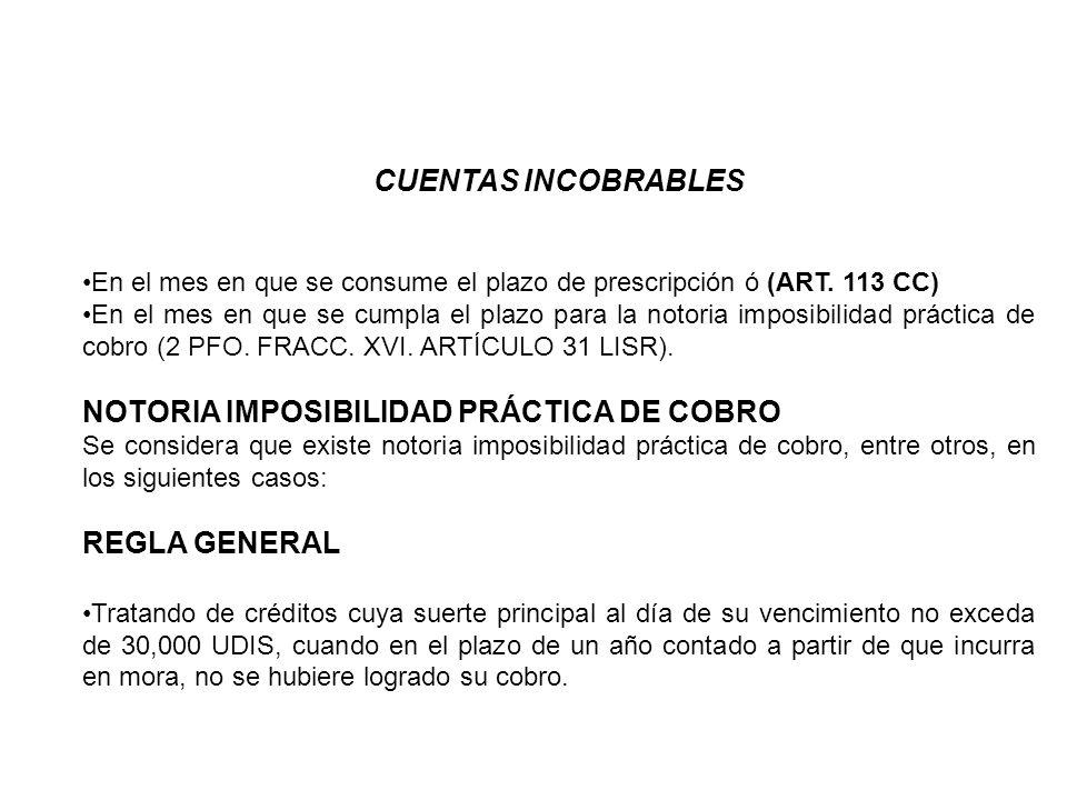 NOTORIA IMPOSIBILIDAD PRÁCTICA DE COBRO
