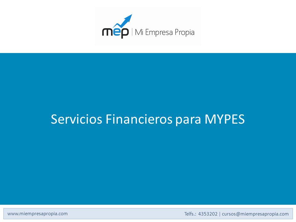 Servicios Financieros para MYPES