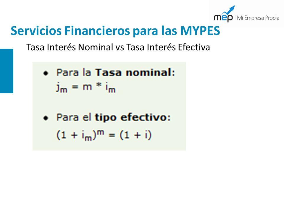 Servicios Financieros para las MYPES