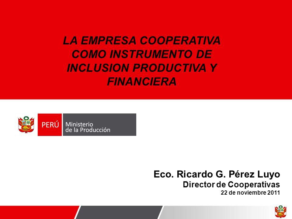 LA EMPRESA COOPERATIVA COMO INSTRUMENTO DE INCLUSION PRODUCTIVA Y FINANCIERA