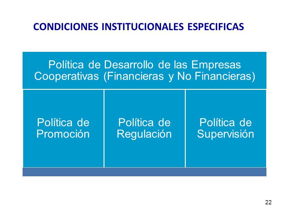 CONDICIONES INSTITUCIONALES ESPECIFICAS