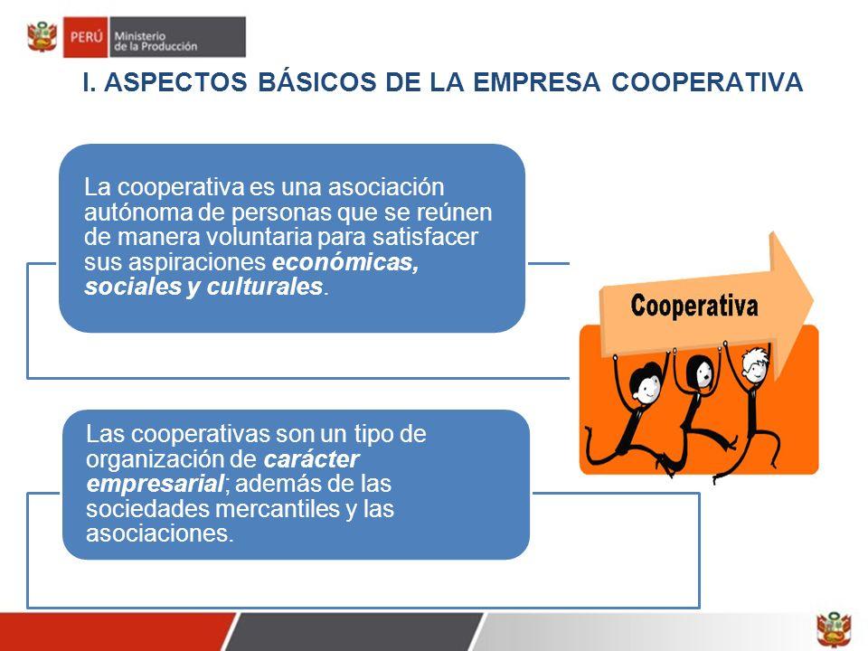 I. ASPECTOS BÁSICOS DE LA EMPRESA COOPERATIVA