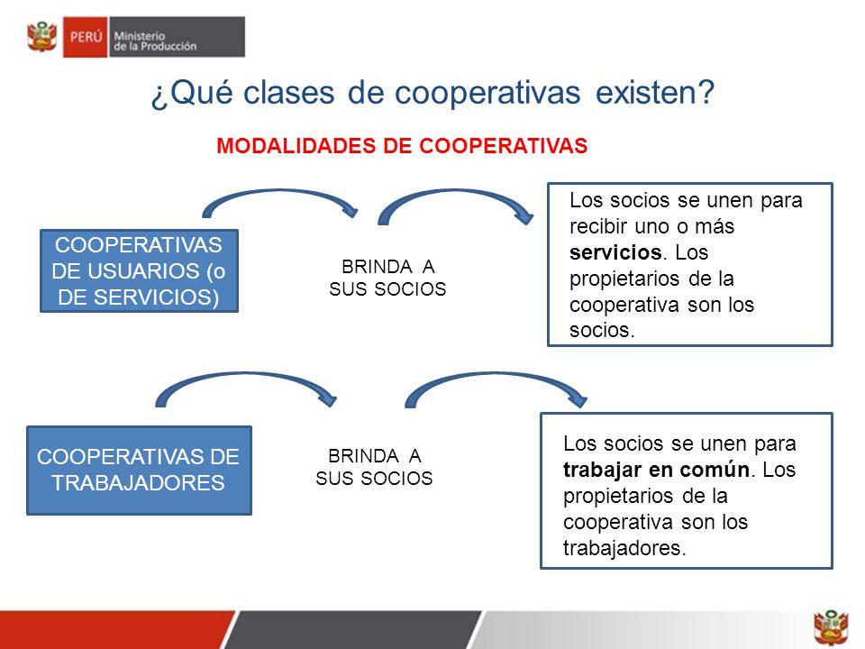 MODALIDADES DE COOPERATIVAS