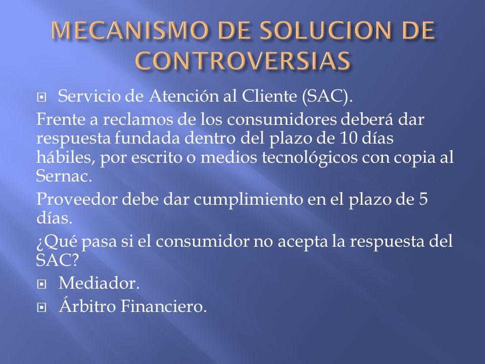 MECANISMO DE SOLUCION DE CONTROVERSIAS