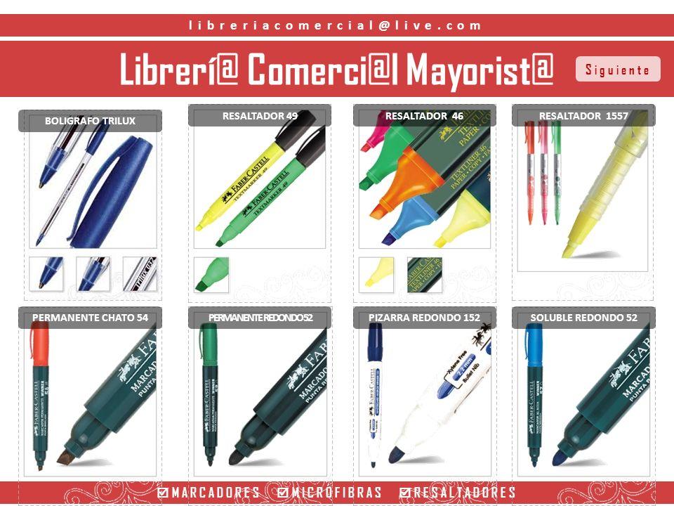 Librerí@ Comerci@l Mayorist@ MARCADORES MICROFIBRAS RESALTADORES