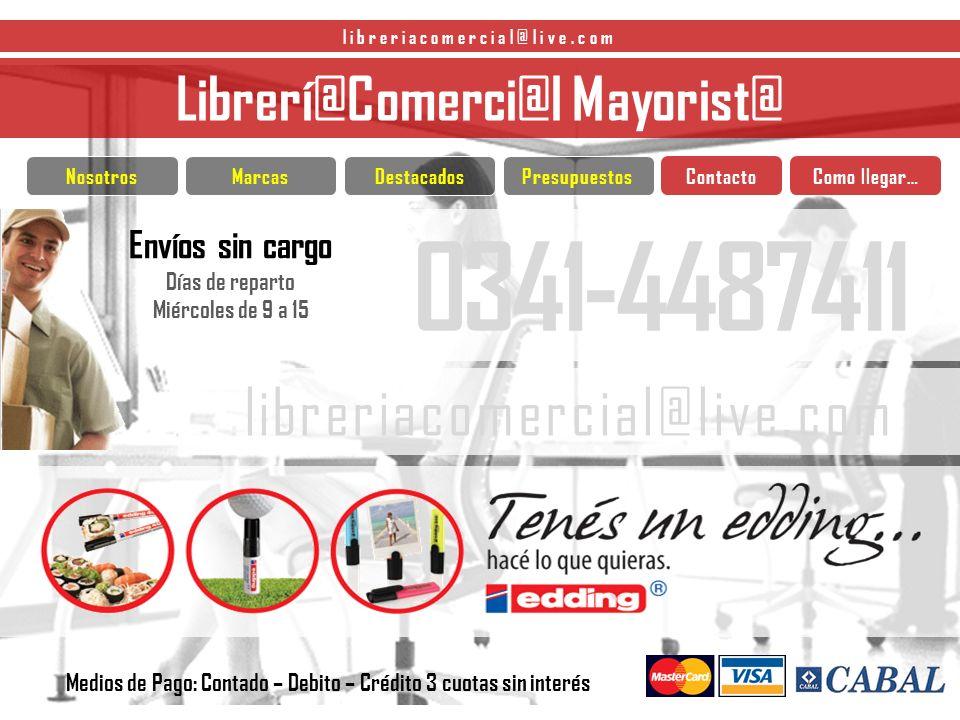0341-4487411 libreriacomercial@live.com Librerí@Comerci@l Mayorist@