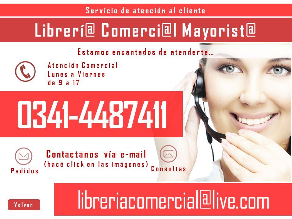 0341-4487411 libreriacomercial@live.com Librerí@ Comerci@l Mayorist@