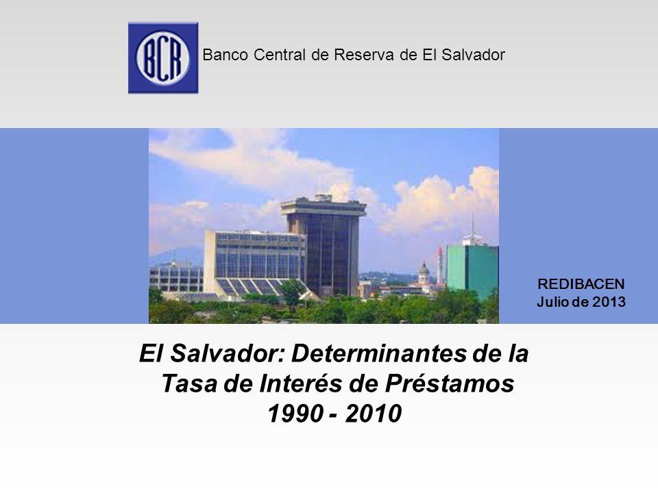 El Salvador: Determinantes de la Tasa de Interés de Préstamos