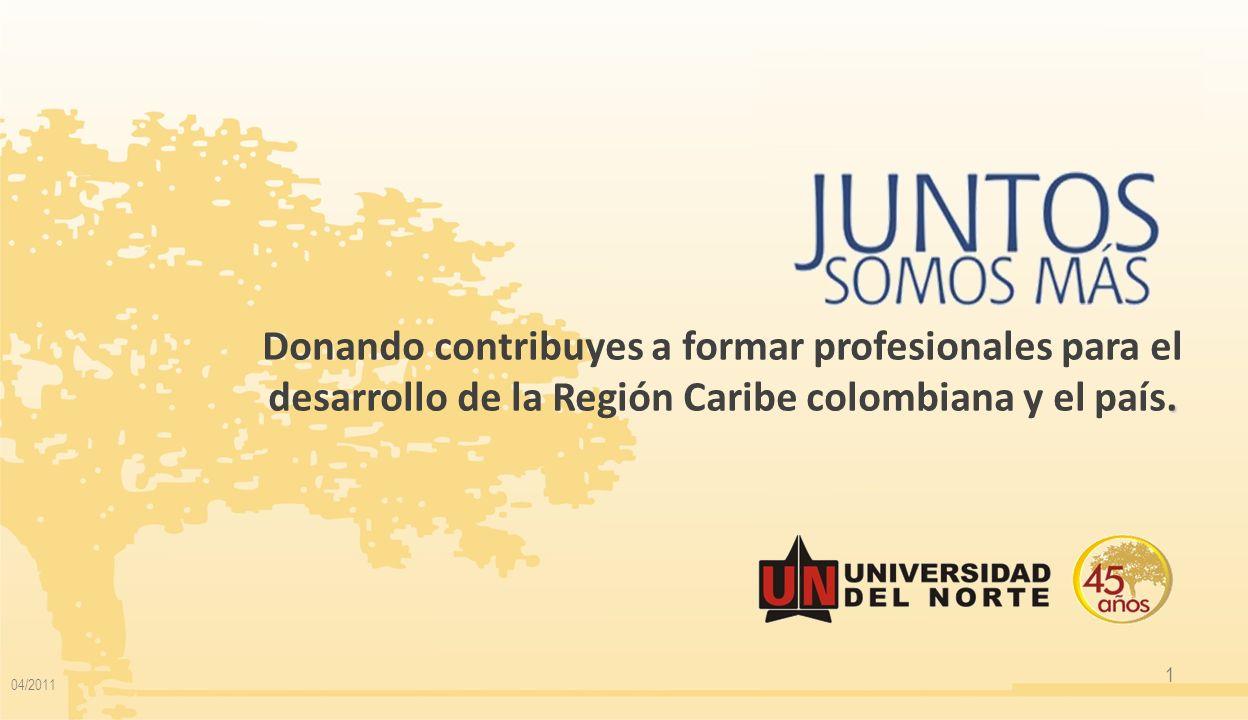 Donando contribuyes a formar profesionales para el desarrollo de la Región Caribe colombiana y el país.