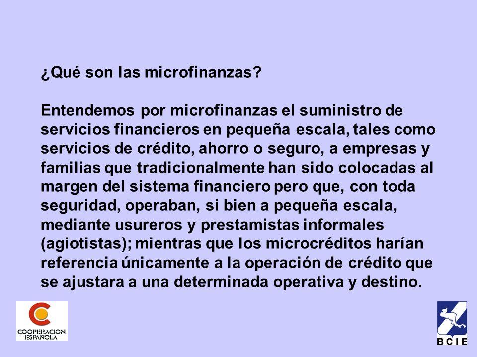 ¿Qué son las microfinanzas