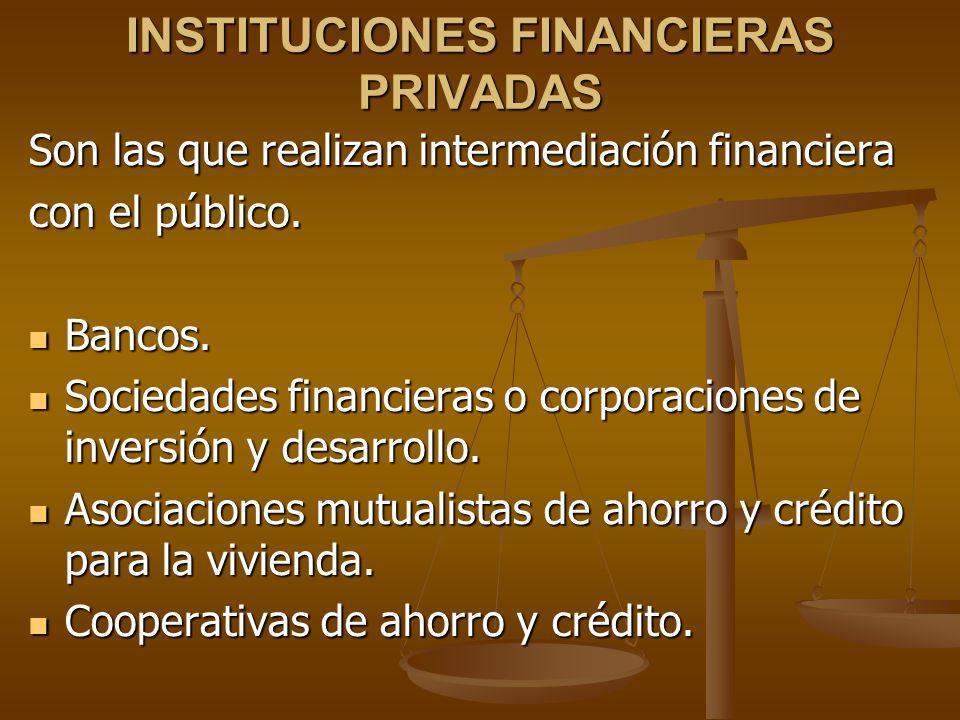 INSTITUCIONES FINANCIERAS PRIVADAS