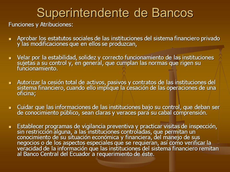 Superintendente de Bancos