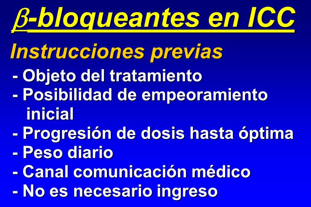 b - bloqueantes en ICC Instrucciones previas - Objeto del tratamiento