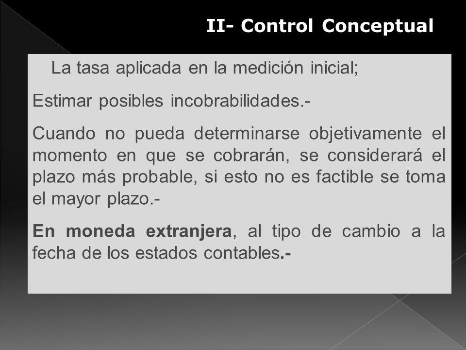 II- Control Conceptual