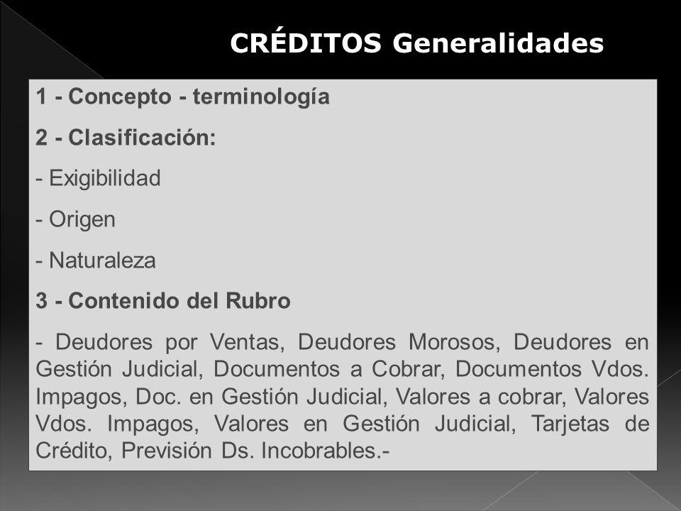 CRÉDITOS Generalidades