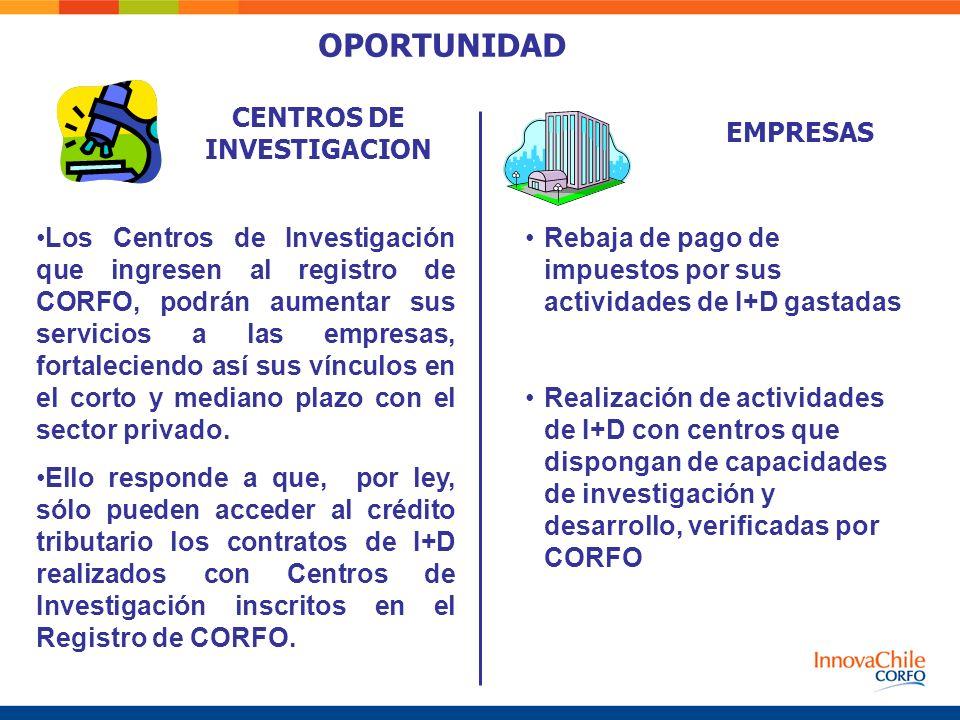 CENTROS DE INVESTIGACION