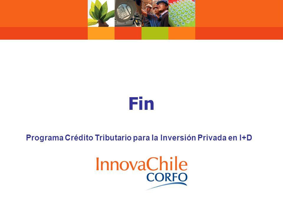 Programa Crédito Tributario para la Inversión Privada en I+D