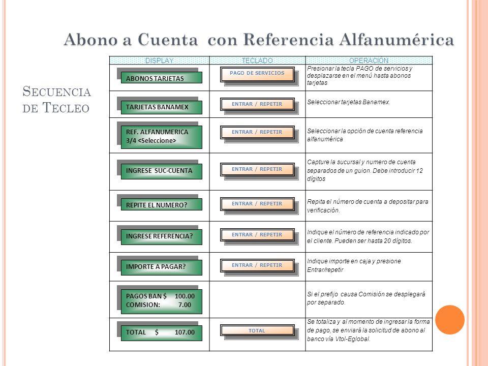 Abono a Cuenta con Referencia Alfanumérica
