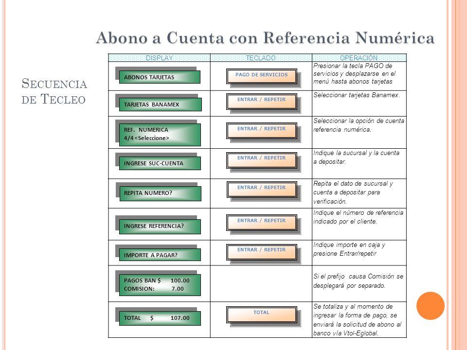 Abono a Cuenta con Referencia Numérica