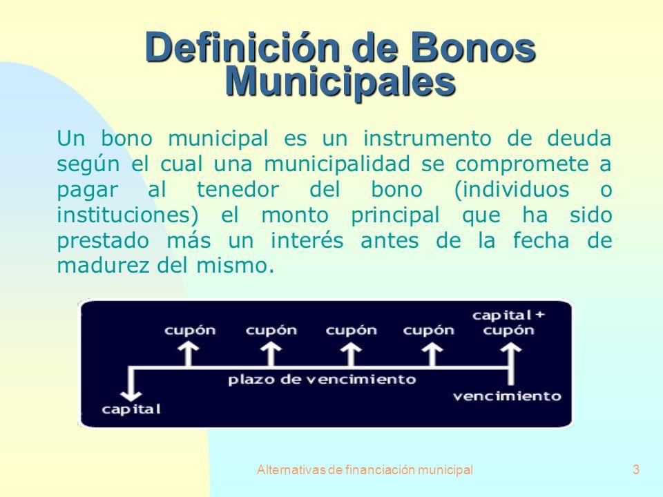 Definición de Bonos Municipales