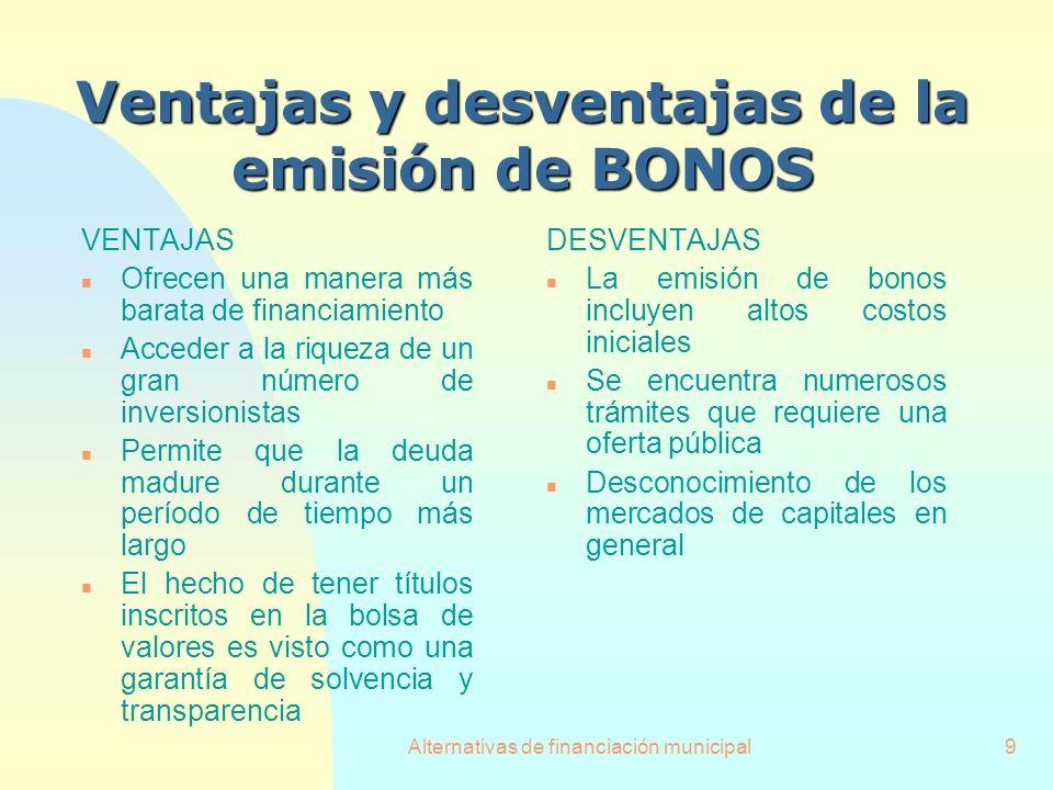 Ventajas y desventajas de la emisión de BONOS