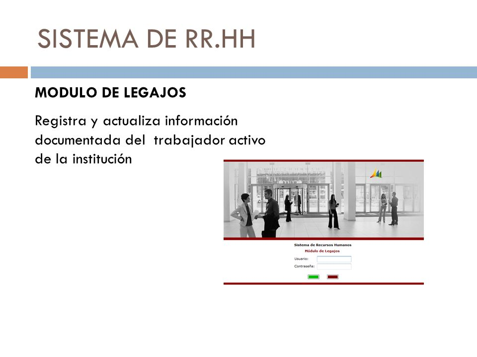 SISTEMA DE RR.HH MODULO DE LEGAJOS