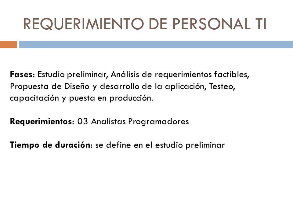 REQUERIMIENTO DE PERSONAL TI