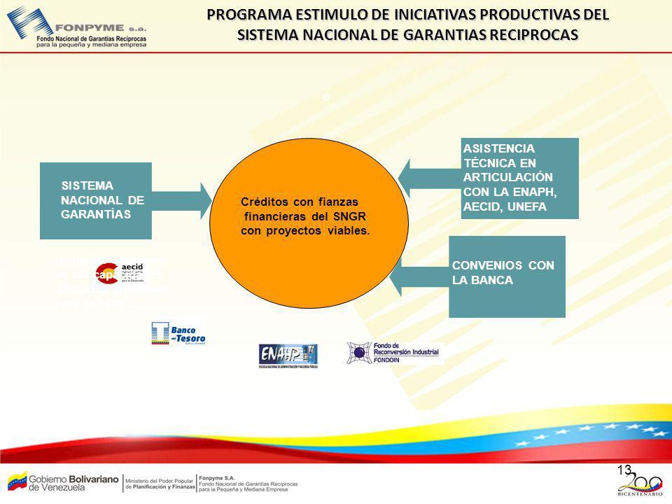 PROGRAMA ESTIMULO DE INICIATIVAS PRODUCTIVAS DEL SISTEMA NACIONAL DE GARANTIAS RECIPROCAS