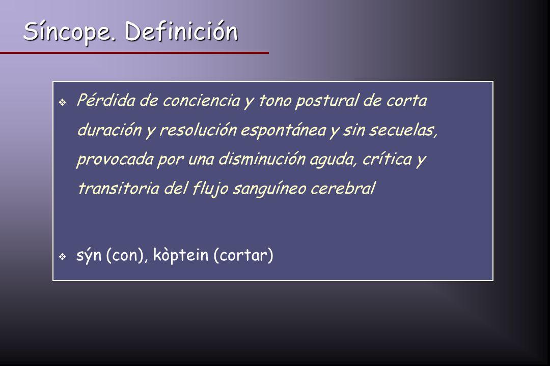 Síncope. Definición