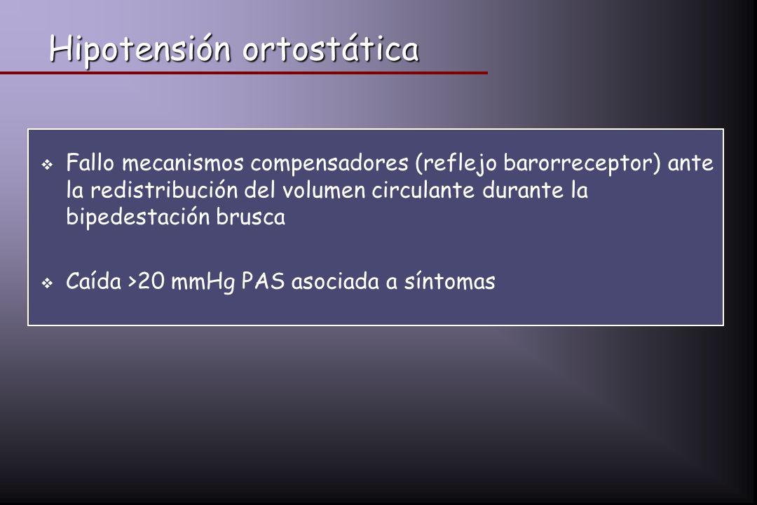 Hipotensión ortostática