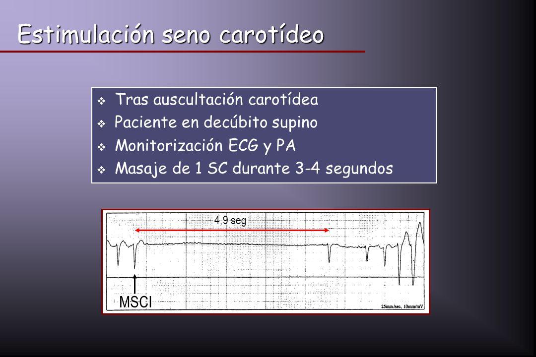 Estimulación seno carotídeo