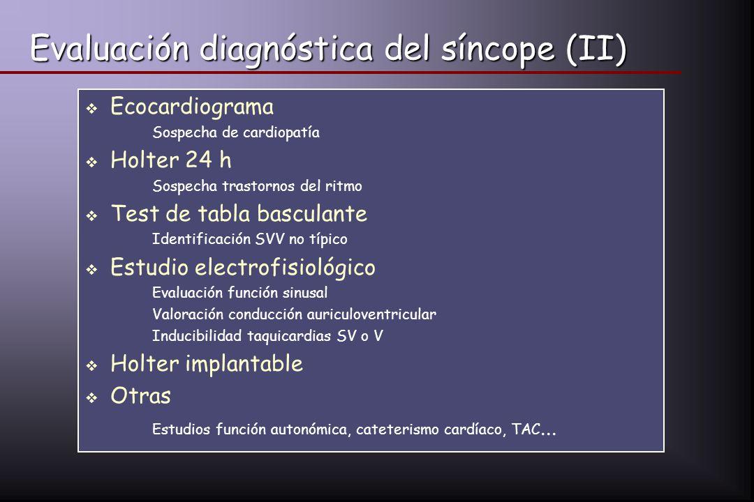 Evaluación diagnóstica del síncope (II)