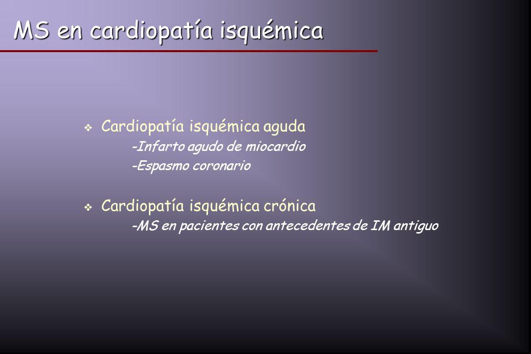 MS en cardiopatía isquémica