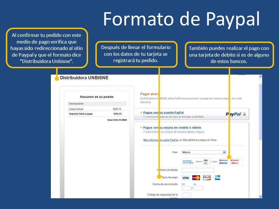 Formato de Paypal