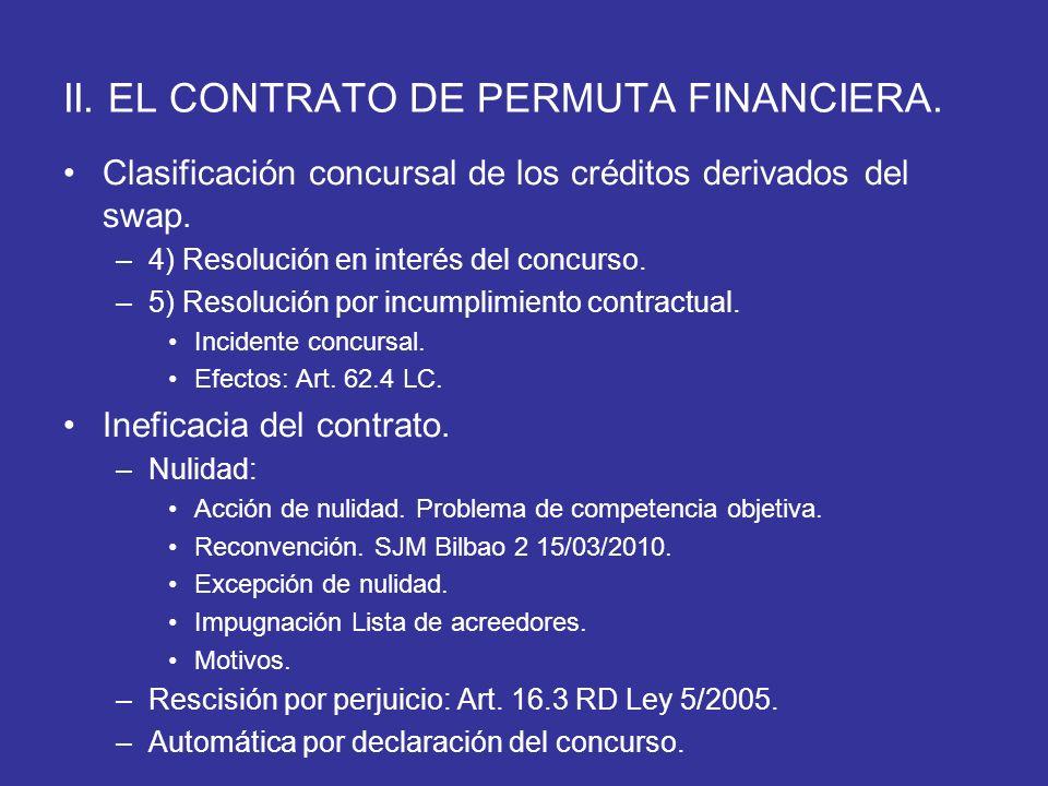 II. EL CONTRATO DE PERMUTA FINANCIERA.