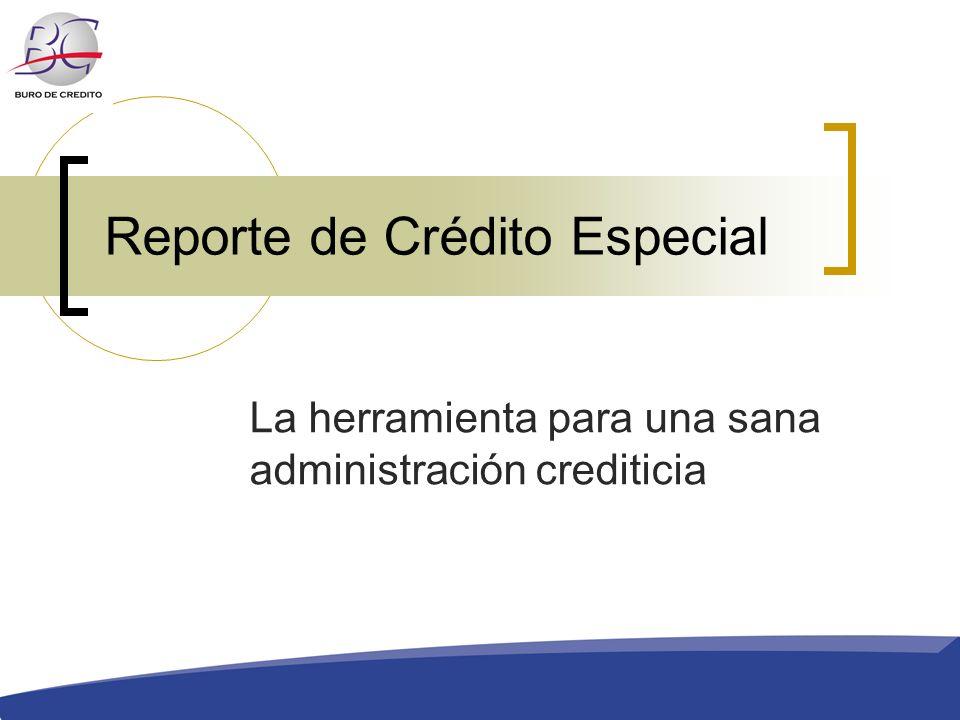 Reporte de Crédito Especial