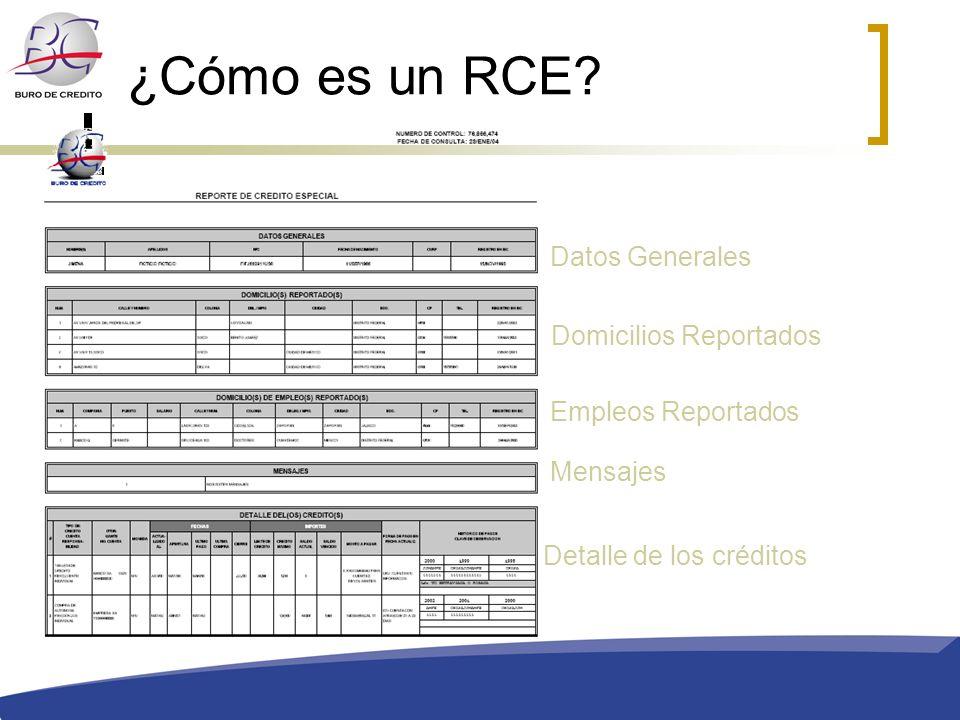 ¿Cómo es un RCE Datos Generales Domicilios Reportados