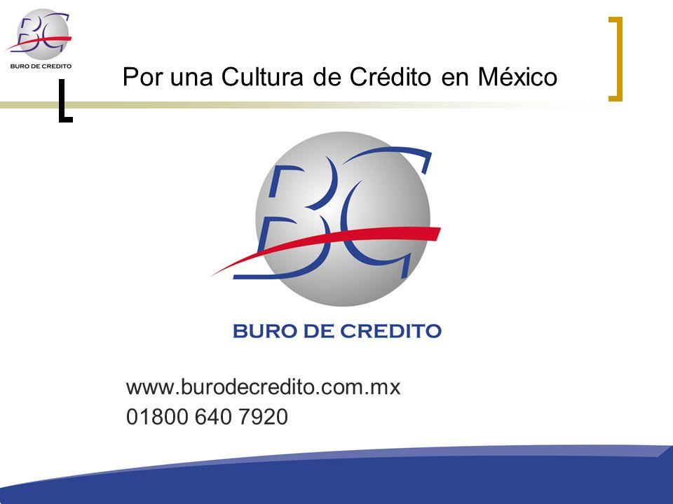 Por una Cultura de Crédito en México