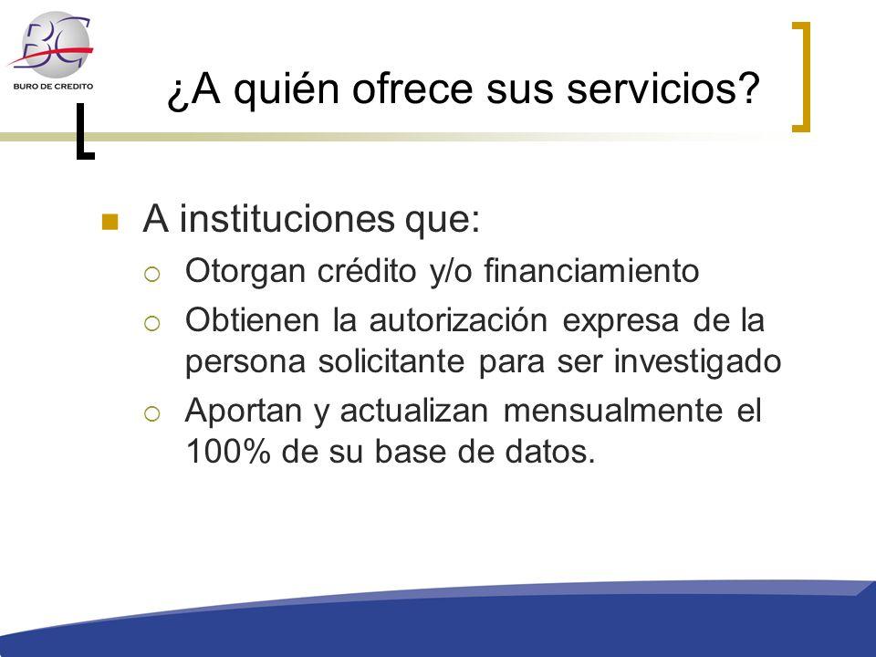 ¿A quién ofrece sus servicios