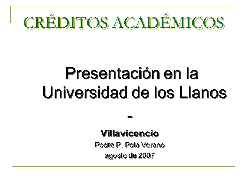 Presentación en la Universidad de los Llanos