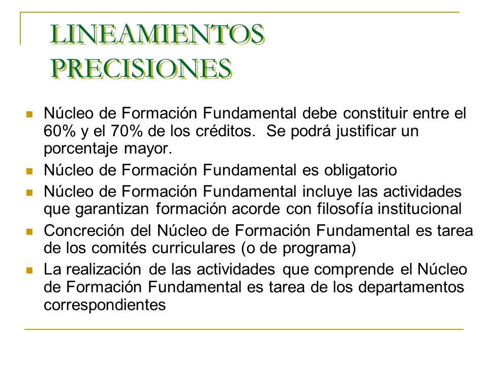 LINEAMIENTOS PRECISIONES