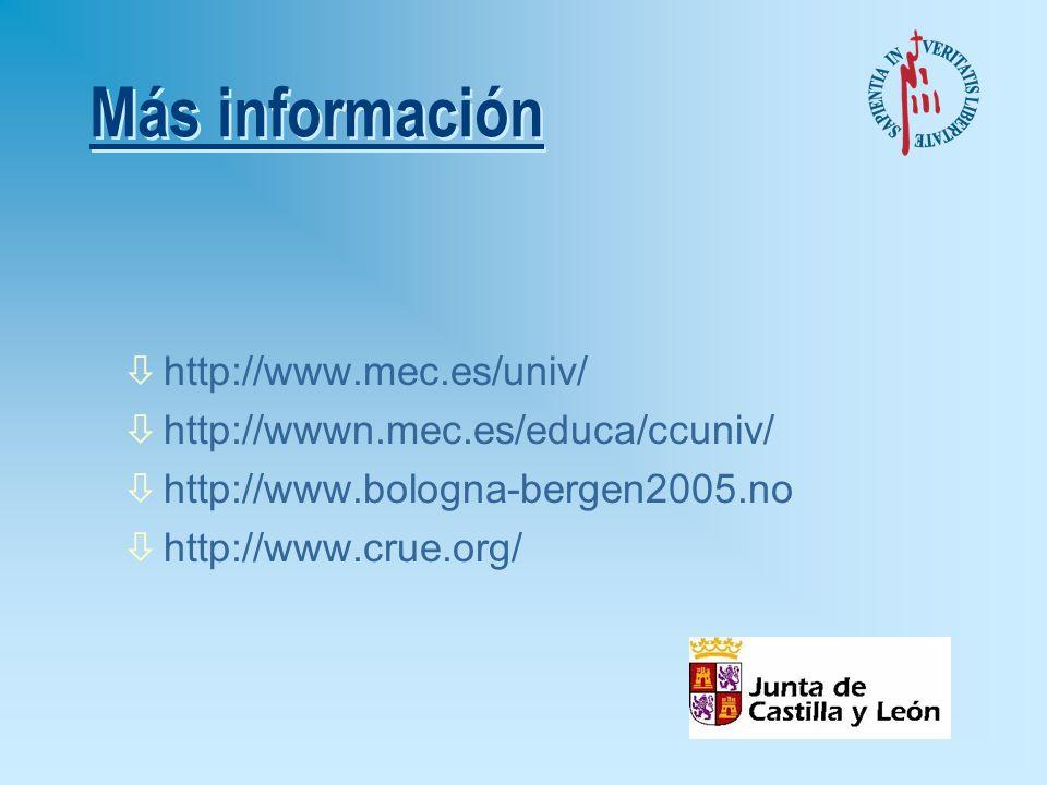 Más información http://www.mec.es/univ/