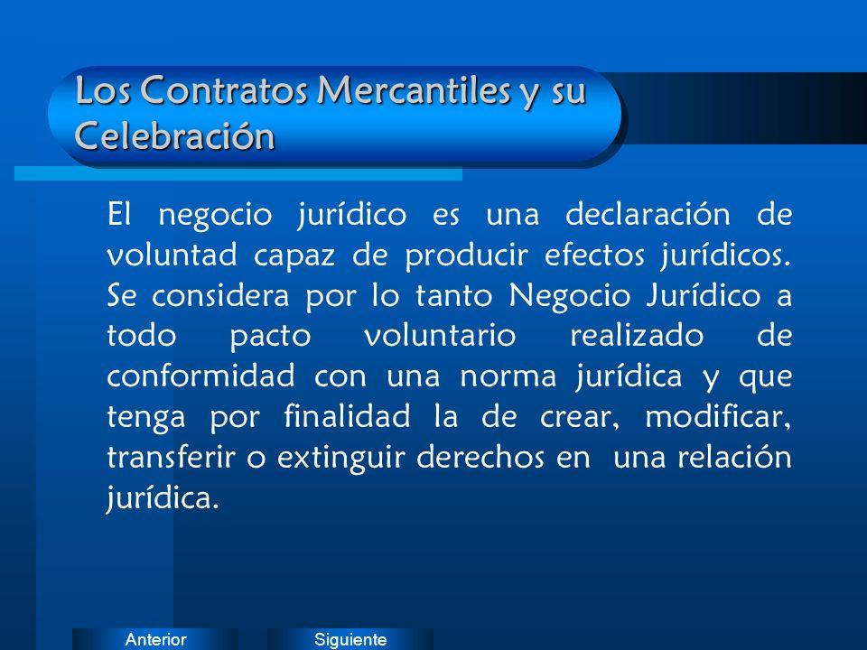 Los Contratos Mercantiles y su Celebración