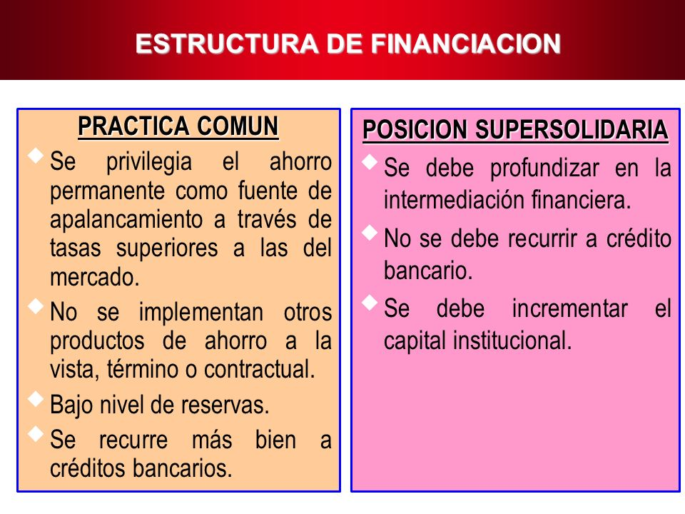 ESTRUCTURA DE FINANCIACION