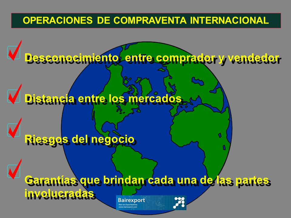 OPERACIONES DE COMPRAVENTA INTERNACIONAL