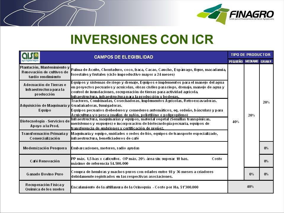 INVERSIONES CON ICR