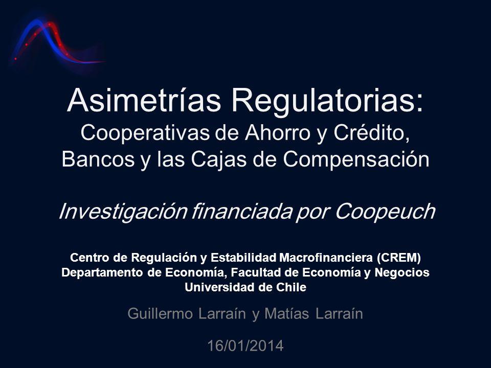 Asimetrías Regulatorias: Cooperativas de Ahorro y Crédito, Bancos y las Cajas de Compensación Investigación financiada por Coopeuch